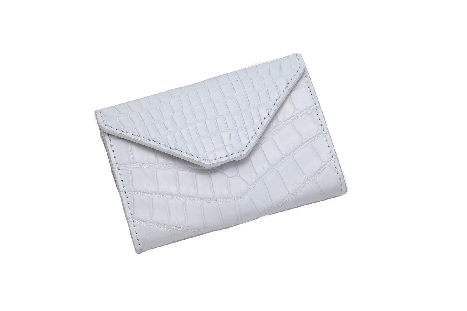 ホワイト 山本製鞄 / クロコダイル コインケース【送料無料】