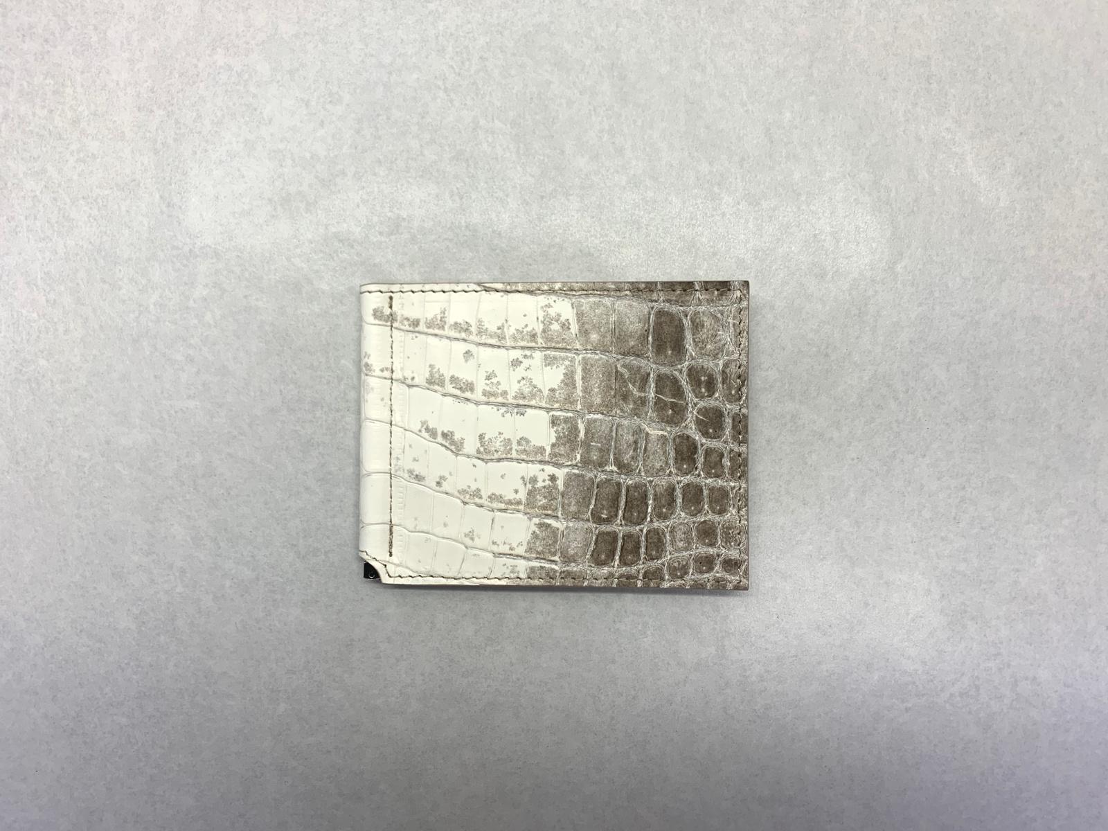 クロコダイル マネークリップ 山本製鞄 メンズ 財布 コンパクト 日本製 本革 ヒマラヤ
