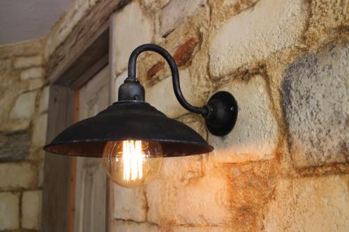 インダストリアル ライト シルバー系D型【送料無料】1点もの ブラケットライト 室内照明 壁掛けライト ブラケット照明 屋外照明 照明 LED アンティーク レトロ 照明器具 おしゃれ 男前インテリア