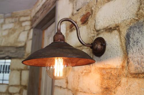 インダストリアル 錆び系D型【送料無料】1点もの ブラケットライト 室内照明 壁掛けライト ブラケット照明 屋外照明 照明 LED アンティーク レトロ 照明器具 おしゃれ 北欧