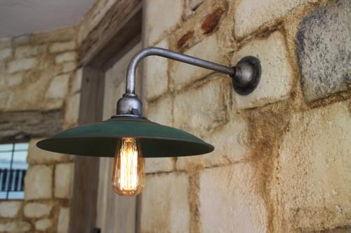 インダストリアル グリーン系B型【送料無料】1点もの ブラケットライト 室内照明 照明 壁付け ブラケット照明 屋外照明 照明 LED アンティーク レトロ 照明器具 おしゃれ 05P01Mar15 工業系ランプ