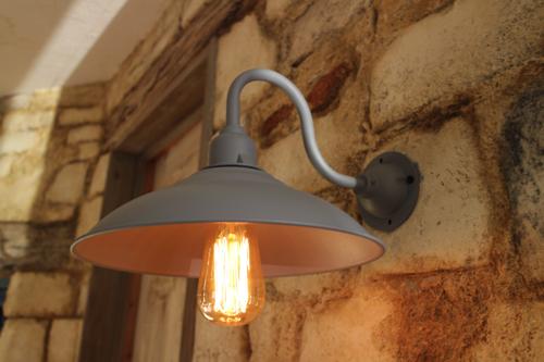 グレー系D型【送料無料】1点もの ブラケットライト 室内照明 壁掛けライト ブラケット照明 屋外照明 照明 LED アンティーク レトロ 照明器具 北欧系 おしゃれ照明