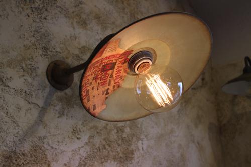 インダストリアル ブラケットライト グリーングレー系A型【送料無料】1点もの 室内照明 壁掛けライト ブラケット照明 屋外照明 照明 LED  ナチュラル ガーデンライト ブラケットライト アンティーク レトロ 照明器具 おしゃれな照明