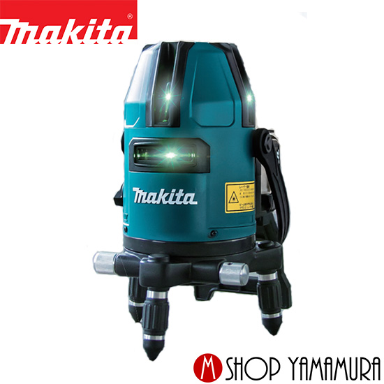 おおがね・ろく (新商品)マキタ makita 10.8Vスライド式 充電式屋内・屋外兼用墨出し器 SK20GD 付属品(本体・受光器・バイス・収納ケース付)