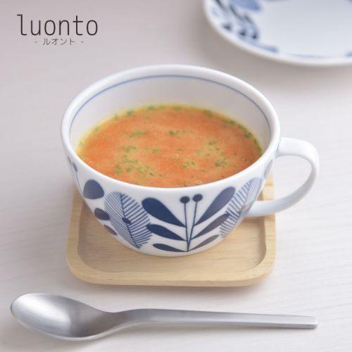 北欧柄がかわいい軽量白磁器シリーズ luonto-ルオント- 片手スープカップ H261 Seasonal Wrap入荷 超特価 ティーカップ