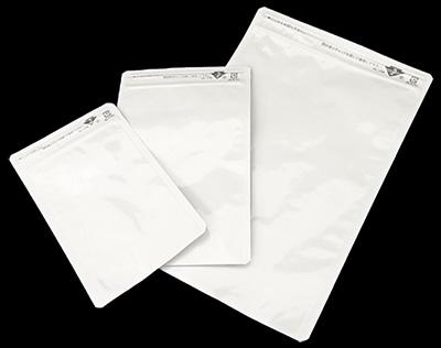セイニチ ラミジップ平袋ホワイトパウチALタイプ AL-DW 20+120x85mm 3500枚入チャック付三方袋 【同梱不可】