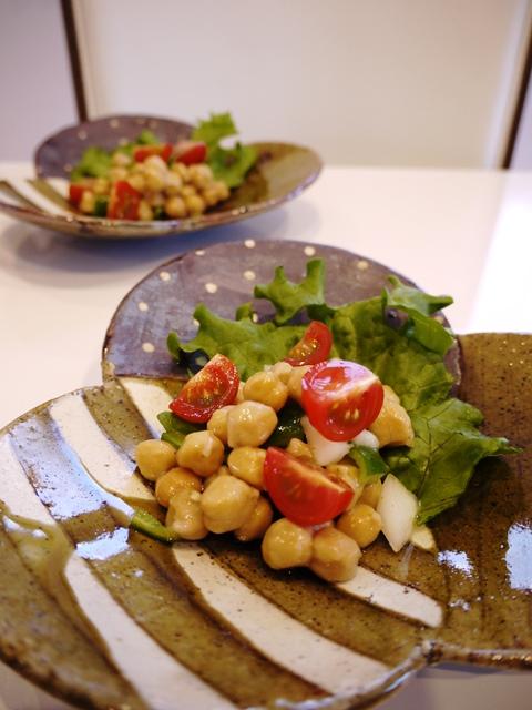 ひよこ豆と野菜のマリネサラダ