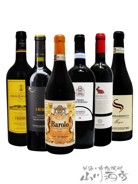 厳選イタリア赤ワインセット ( 750ml×6本 ) 【 4855 】【 イタリア赤ワイン 】【 6本セット 】【 送料無料 】【 お中元 贈り物 ギフト プレゼント 】
