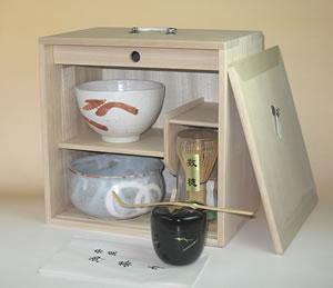 茶道具 桐色紙箱252