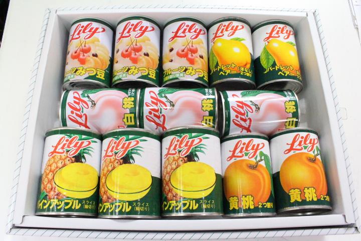 リリー缶詰めセット【選択】【_メッセ入力】盆 お供え