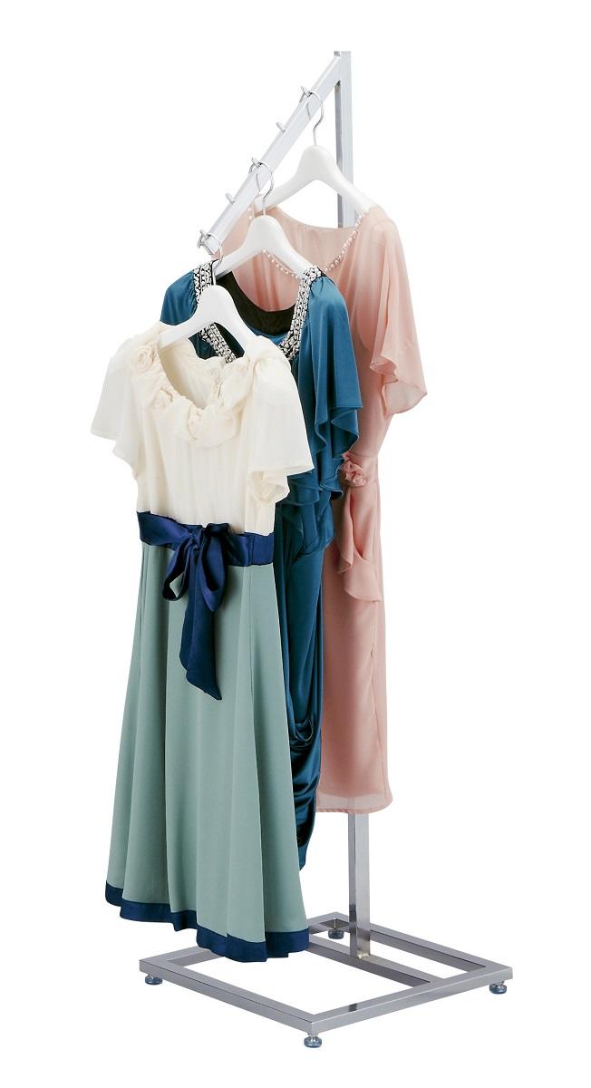 スクエア傾斜ハンガー角 クローム 婦人服・紳士服・子供服のハンギングに!!※受注生産品です、納期と送料はご注文数によって変わりますのでご注文前に一度お問い合わせ下さいませ。