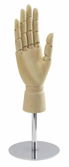 【アクセサリー・小物のディスプレイに♪】婦人 レディス ディスプレイ ハンドツール アーム【木目調クリア】【右手】【関節可動】※在庫切れの場合は納期をお知らせ致します