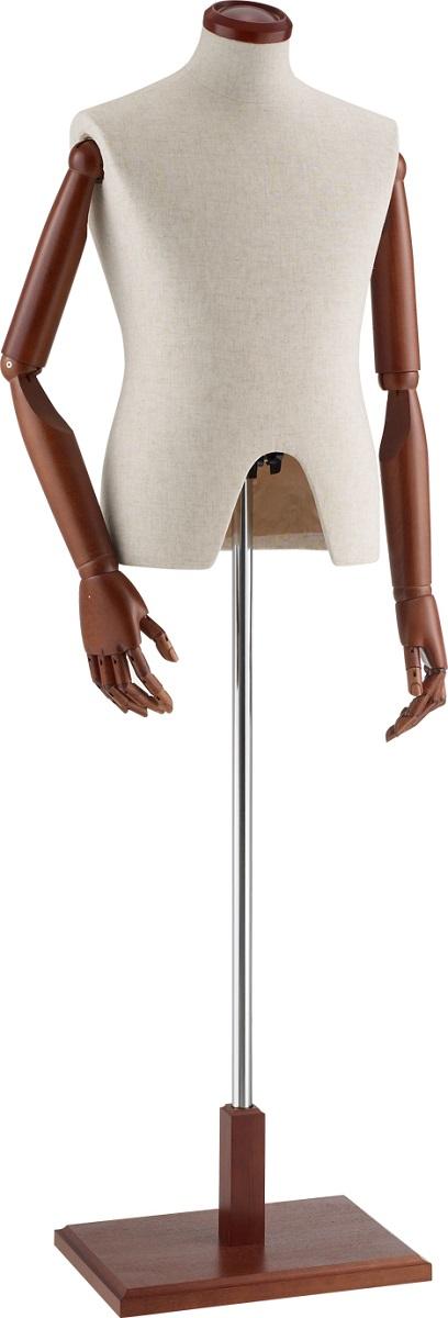 【洋服・小物・アクセサリーのディスプレーに】紳士 腕付き 床置き トルソー 紳士 芯地 メンズ ボディ※在庫切れの場合は納期をお知らせ致します。