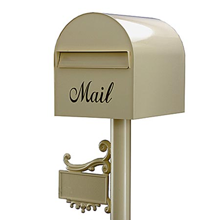 郵便ポスト レターボックスマン アメリカンポスト 3105 (NPポールネームプレート台座付) プリムローズ デザイン ポスト
