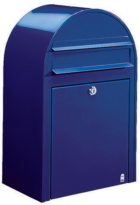 郵便ポスト 壁付け ボビ (bobi ) ネイビーブルー デザイン ポスト 北欧 郵便受け