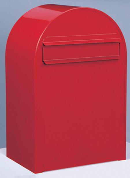 郵便ポスト ポール立て ボンボビ (bonbobi ) レッド デザイン ポスト 北欧 郵便受け