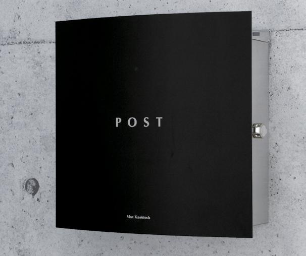 【スーパーセール ポイント5倍&クーポン発行中】 郵便ポスト 壁付け ボン(Bonn) ブラック デザイン ポスト 北欧 郵便受け