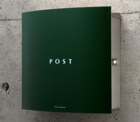 郵便ポスト 壁付け ボン(Bonn) グリーン デザイン ポスト 北欧 郵便受け