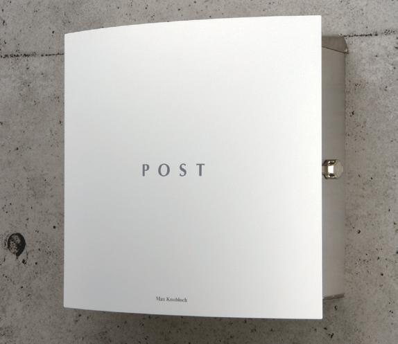 郵便ポスト 壁付け ボン(Bonn) ホワイト デザイン ポスト 北欧 郵便受け