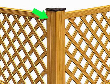フェンス設置にコーナー部がある場合に必要な柱 90°と自在からお選びいただけます 樹脂 往復送料無料 フェンス 贈物 プラウディ 三協立山 1本 1206用 各型共通 コーナー支柱