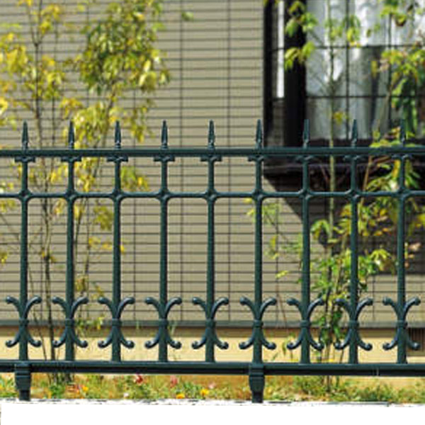 ロートアイアン調 鋳物 フェンス キャスモア 4型 L1000 H600 フリー支柱セット 柵 三協立山