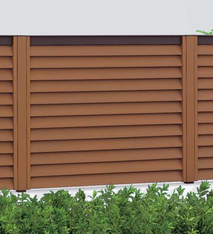 フェンス 目隠し エクステリア木粉 入り 樹脂 ハイパーテーション 2型 1012 H1007 本体のみ ブロック仕様 四国化成