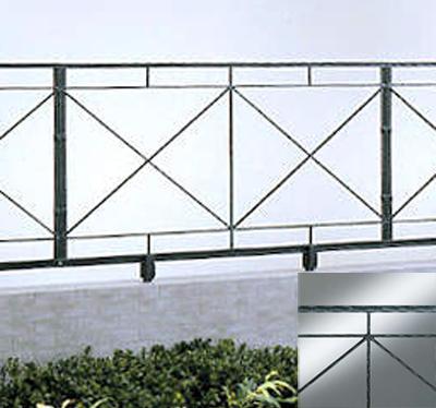 フェンス アイアン調 鋳物 ガーデニィフェンス 7型 T60 フリー支柱セット 四国化成