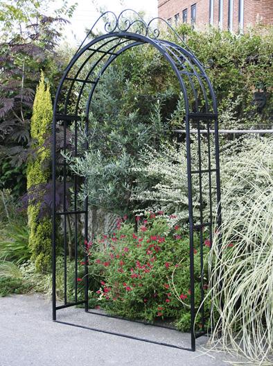 ガーデンアーチ 3型 ロートアイアン 組立式 ゲート アーチ 送料無料