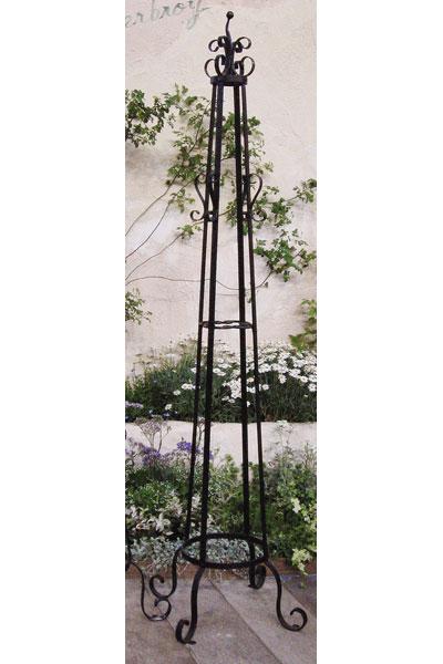 フラワースタンド オベリスク A型 高さ2000 鉢置リング付 フラワーラック 玄関 ハンガーラック 送料無料