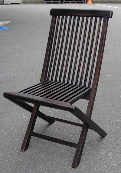 ガーデンチェア ポピュラー折り畳みチェア 2脚入 椅子 ガーデンファニチャー 塗装品 屋根下用 送料無料