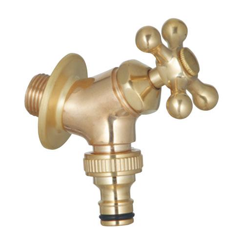 蛇口 水栓金具 プレーンフォーセット ホース用蛇口B ゴールド ユニソン