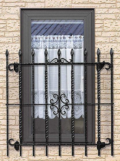 窓 飾り 面格子 シャローネ2型 W605・H850 BLA-0608-2 ロートアイアン調
