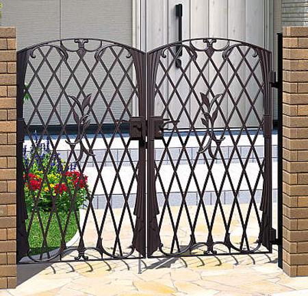 門扉 鋳物 フェアル2型 両開き 門柱タイプ 0712 南欧風 アイアン 三協立山
