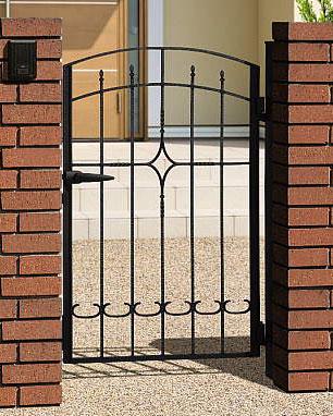 凸凹のある表面仕上げ 鍛造の質感をアルミ鋳物で表現 落ち着いた洋風スタイル 門扉 片開き 門柱タイプ プロヴァンス APR-2 おすすめ特集 アイアン 大放出セール 鋳物 0812 三協立山 2型 南欧風