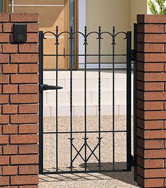 門扉 片開き 門柱タイプ プロヴァンス 4型 鋳物 0712 南欧風 アイアン APR-4 三協立山