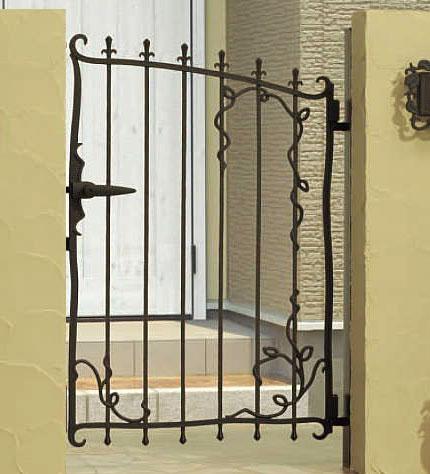 門扉 片開き 門柱タイプ プロヴァンス 5型 鋳物 0612 南欧風 アイアン APR-5 三協立山