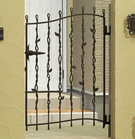 門扉 片開き 門柱タイプ プロヴァンス 6型 鋳物 0712 南欧風 アイアン APR-6 三協立山