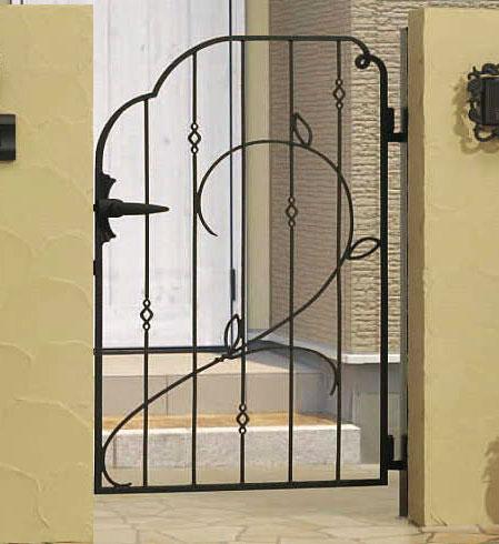 門扉 片開き 門柱タイプ プロヴァンス 8型 鋳物 0612 南欧風 アイアン APR-8 三協立山
