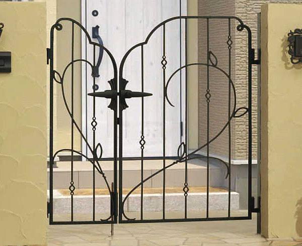 南欧風 アイアン 門扉 両開き 親子 鋳物 プロヴァンス 8型 門柱タイプ 0412+0812 APR-8 三協立山