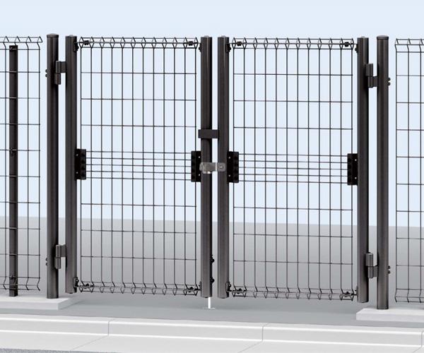 門扉 門柱セット スチール(メッシュ) イーネット 1型 10-12 H1200 両開き YKK AP