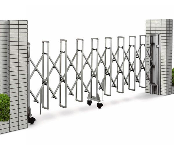 日本人気超絶の 伸縮門扉 レイオス5型 ゲート PGA-5 片開き AP:大和住建 店 YKK 防犯 H1050 23S-エクステリア・ガーデンファニチャー