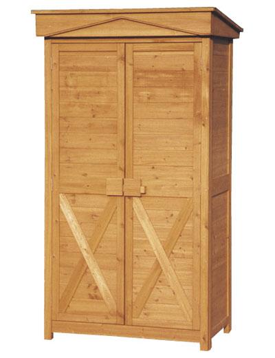 【マラソン ポイント5倍+クーポン発行中】 木製物置 屋外 ガーデンストア W1000 H1950 収納庫 木製 パネル式 送料無料