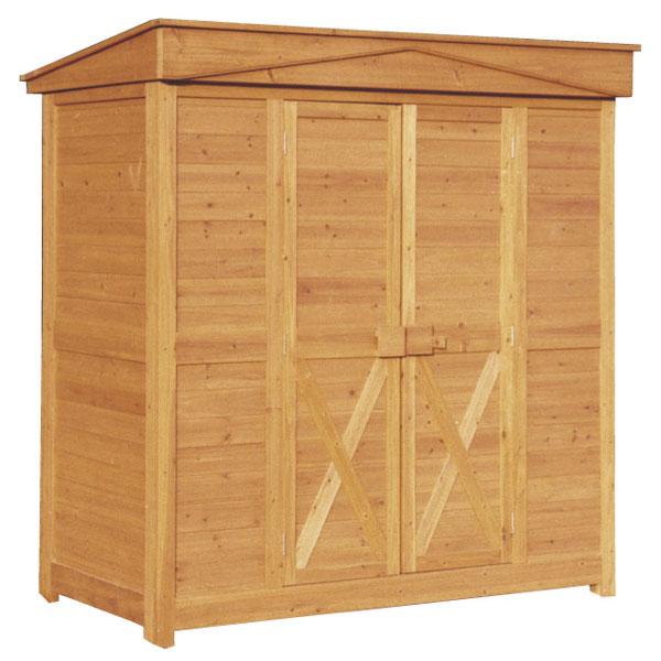 木製物置 屋外 ガーデンストア 1911 W1800 H1950 収納庫 木製 パネル式 送料無料