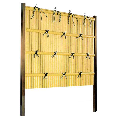 フェンス 庭 人工竹垣 樹脂 建仁寺垣A型 組立部材セット 基本型 H1500 片面仕様 目隠し フェンス