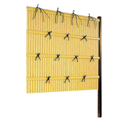 竹垣人工 建仁寺垣A型 組立部材セット 連結用 H1500 片面仕様 目隠し フェンス