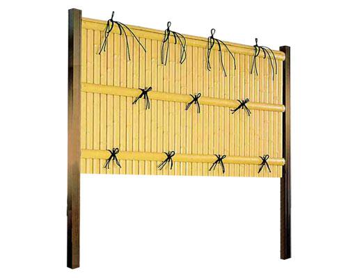 フェンス 庭 人工竹垣 樹脂 建仁寺垣A型 組立部材セット 基本型 H900 片面仕様 目隠し フェンス