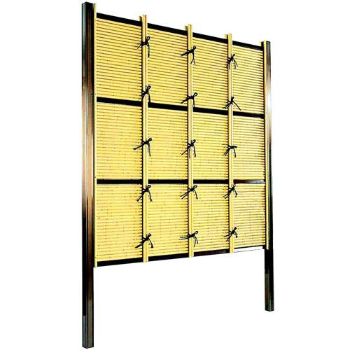 フェンス 庭 人工竹垣 みす垣E型 組立部材セット 基本型 H1800 目隠し フェンス 樹脂 送料無料