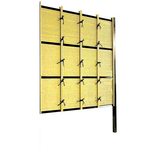 竹垣人工 みす垣E型 組立部材セット 連結型 H1800 目隠し フェンス 樹脂 送料無料