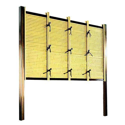 フェンス 庭 人工竹垣 みす垣E型 組立部材セット 基本型 H900 目隠し フェンス 送料無料