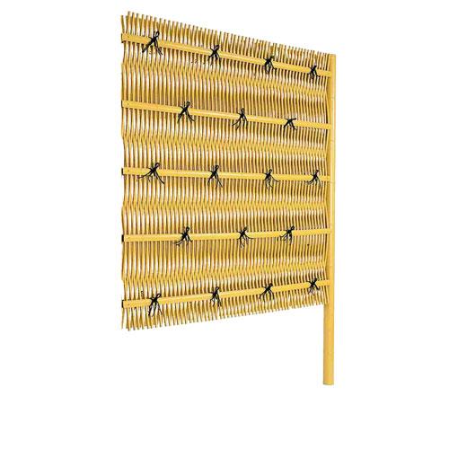 竹垣人工 大津垣O型 組立部材セット 連結型 H1800 目隠し フェンス 樹脂 送料無料